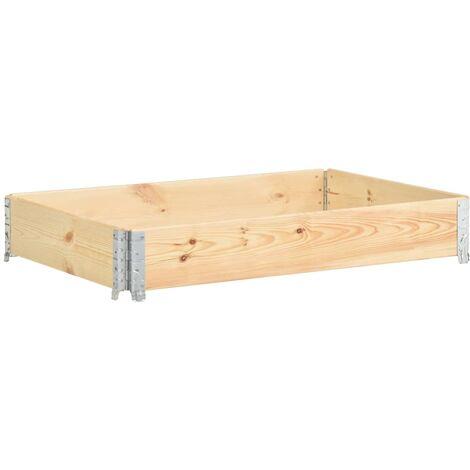 Arriate de madera maciza de pino 50x150 cm - Marrón