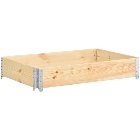 Arriate de madera maciza de pino 80x120 cm