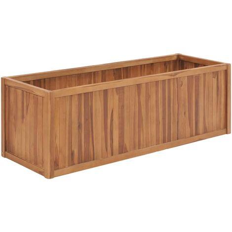 Arriate de madera maciza de teca 150x50x50 cm - Marrón