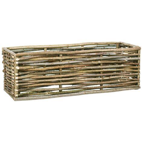 Arriate elevado de madera de avellano 120x40x40 cm