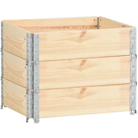 Arriates de madera maciza de pino 3 unidades 60x80 cm
