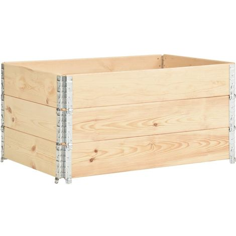 Arriates de madera maciza de pino 3 unidades 80x120 cm