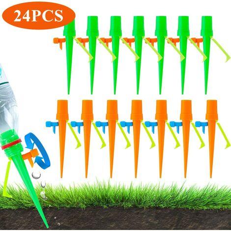 Arrosage Goutte à Goutte Automatique Réglable Système d'Irrigation Goutte à Goutte Distributeur d'Arrosager Kit d'Arrosage pour Bonsaï Jardinage Intérieur Extérieur 24PCS avec 1Aiguille