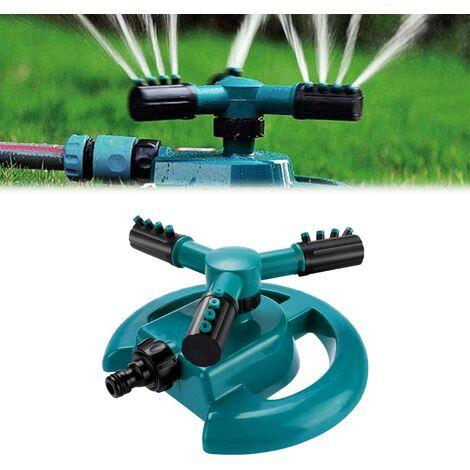Arroseur à gazon rotatif à 360 °, système d'arrosage avec buse à 3 bras : eau jusqu'à 3 pieds carrés.