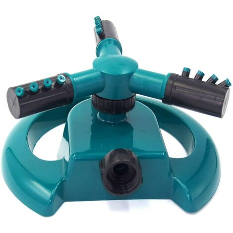 Arroseur à gazon rotatif à 360 °, système d'arrosage avec buse à 3 bras : eau jusqu'à 3 pieds carrés