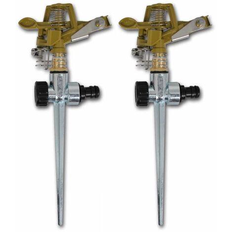 Arroseur a impulsion sur piquet zinc metal 2 pieces