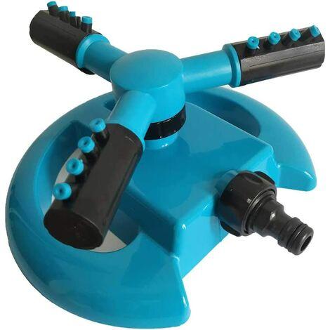 Arroseur, arroseur d'eau pour jardin, pelouse, parc, cour, système d'arrosage automatique rotatif 360 ° - Angle de pulvérisation réglable et distance bleu