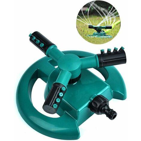 Arroseur automatique de jardin et de pelouse - Avec syst��me d\'arrosage rotatif �� 360�� - Pour un arrosage uniforme grace aux t��tes de pulv��risation de pr��cision rotatives - Vert