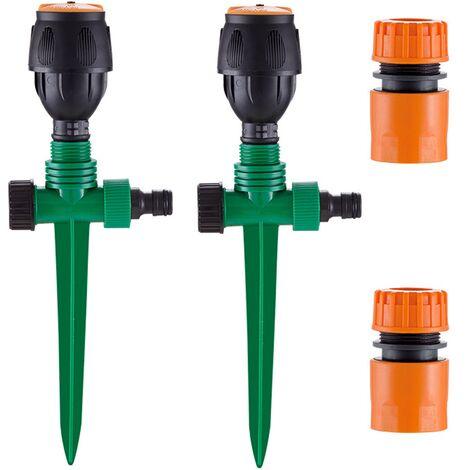 Arroseur de Jardin, Arroseur pour Pelouse Circulaire Automatique Arrosage Système Irrigation Rotatif à 360 Base de Pointe Arroseur pour Gazon Pelouse Jardin