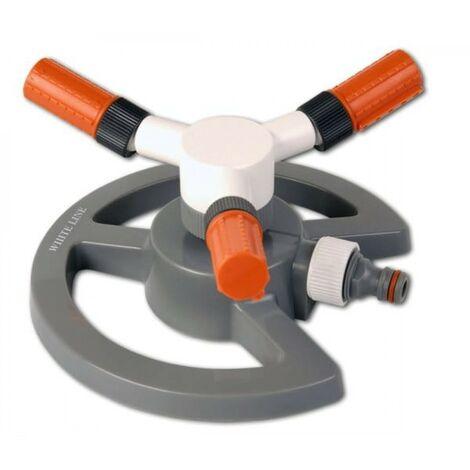Arroseur de jardin rotatif à 3 bras réglable