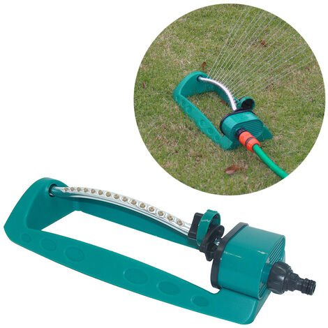 Arroseur d'oscillation de 15 trous de pelouse de jardin, arroseur d'arrosage d'irrigation verte, arroseur de jardin de refroidissement de toit