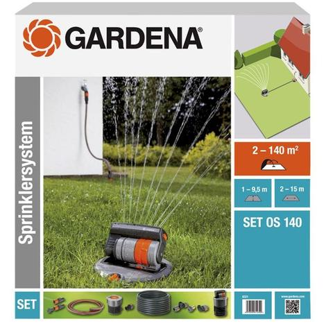 Arroseur GARDENA oscillant escamotable OS 140 (8220)