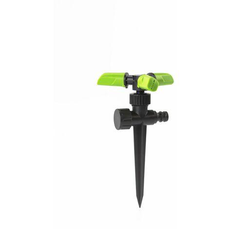 Arroseur rotatif 3 têtes 360 degrés sur pic