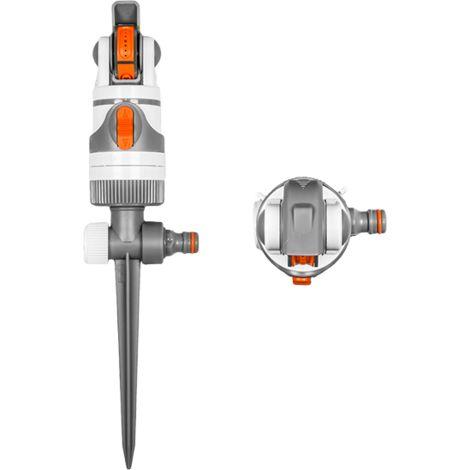Arroseur rotatif 4 fonctions 350 m² WHITE LINE sur pointe