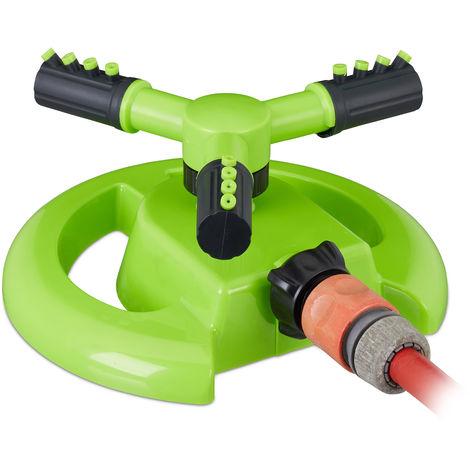 Arroseur rotatif, pour surfaces jusqu'à 80 m², Zone d'arrosage 8 - 10 m, 3 bras, 360° rotatif,, vert clair