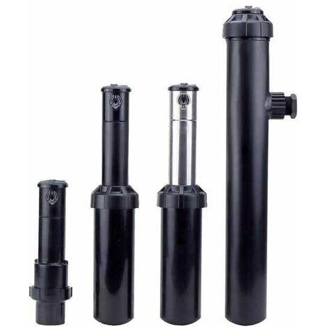 Arroseur T5 inox escamotable - Emergence de 12,7 cm - Secteur réglable 40 à 360° - Portée 7,6 à 15,2m - RapidSet
