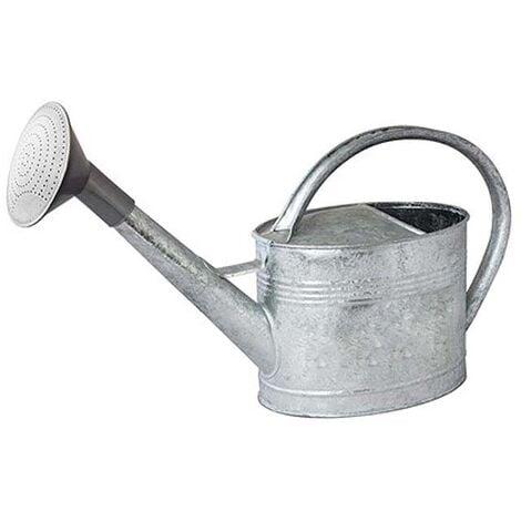 Arrosoir acier galvanisé avec pomme 6 litres - Gris