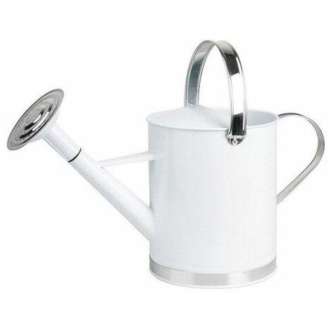 Arrosoir en zinc - Blanc - 5 litres - Livraison gratuite