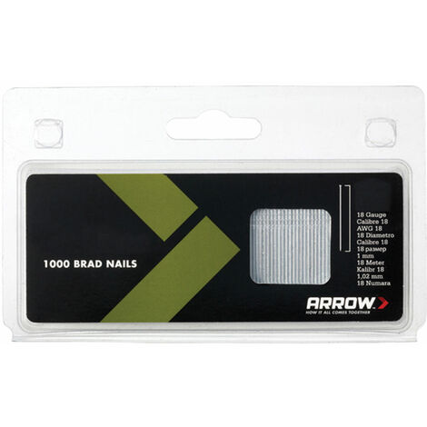 Arrow ABN1832 BN1832 Brad Nails 50mm 18g Pack 1000