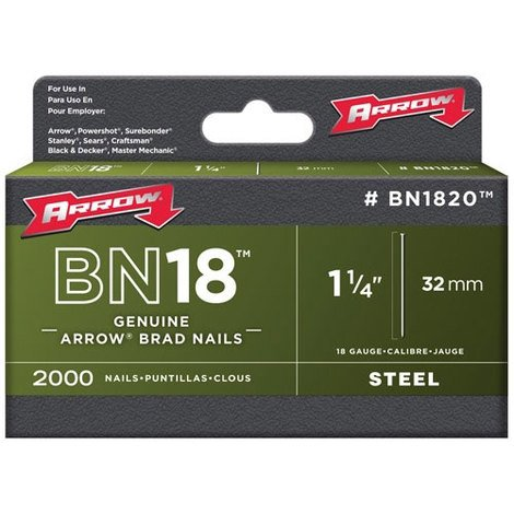 "Arrow BN1820 Brad Nails Size: 1.1/4"" - 32mm Pack: 1000"