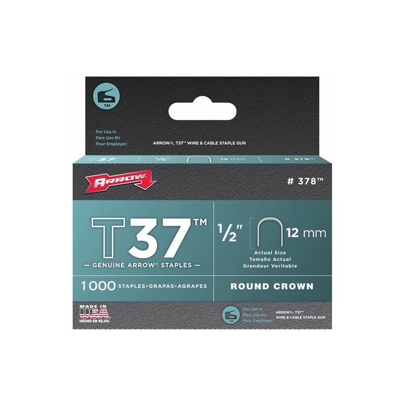 Image of Arrow A379 T37 Staples 14mm (9/16in) Box 1000