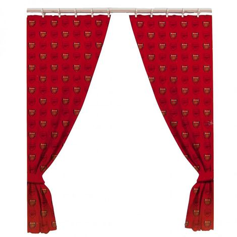 Arsenal FC Official Curtains (One Size) (Red)