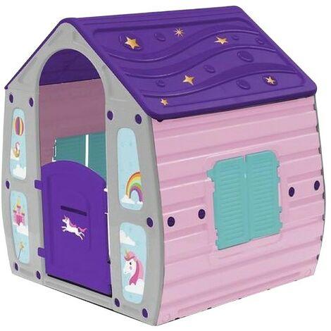 """main image of """"Art. 562109 Caseta para jardín de unicornio juguete infantil 102x89xH109 cm"""""""