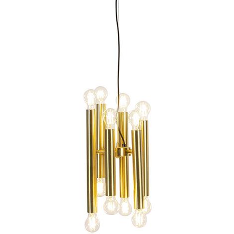 Art Deco Pendant Lamp 12 Gold - Facil