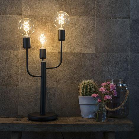 Art Deco Table Lamp 3 Black - Facile