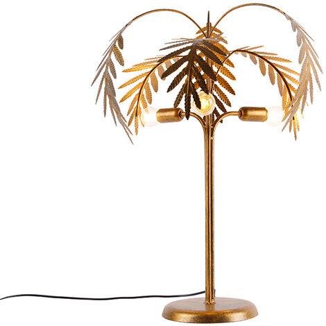 "main image of ""Art Deco table lamp gold 3-light - Botanica"""