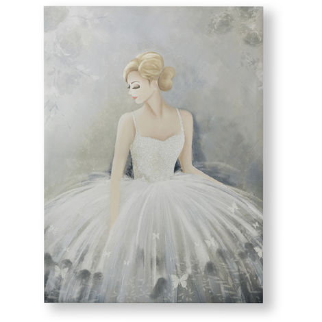 Art for the Home Beautiful Ballerina Glitter Printed Canvas