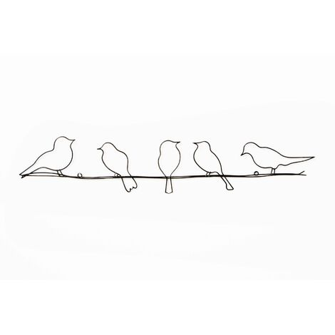 Art for the Home Bird on a Wire Metal Wall Art (Was £25)