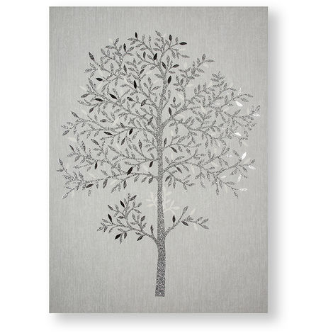 Art for the Home Eternal Tree Metallic and Glitter Printed Canvas