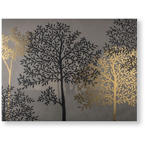 Art for the Home Eternal Woodland Metallic and Glitter Printed Canvas