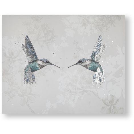 Art for the Home Hummingbirds Printed Canvas