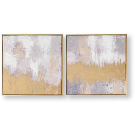 Art for the Home Laguna mist Set of 2 hand painted Framed Canvas (Was £110)