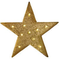 Art For The Home Lit Star Metal Contemporary Wall Art Sculpture (Was £70)