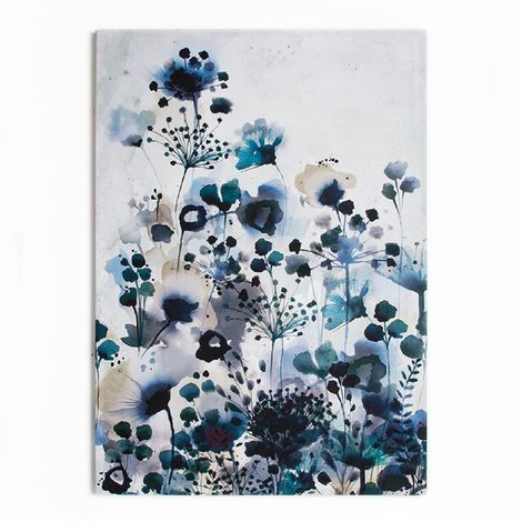 Art for the Home Moody blue Watercolour Printed Canvas (Was £45)
