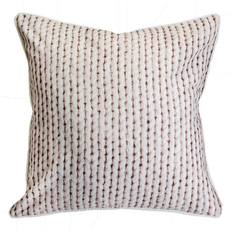 Art For The Home Printed Chunky Knit Cream Large Filled Cushion (Was £20)