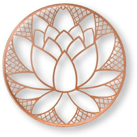 Art for the Home Rose Gold Lotus Blosson Wire Wall Art (Was £35)