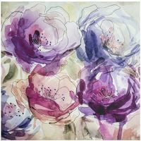 Art For The Home Stitched Spring Blooms Floral Printed Canvas Wall Art (Was £30)
