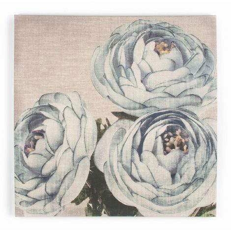 Art for the Home Teal floral Trio Printed Canvas (Was £40)