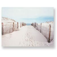 Art for the Home Walk to the Beach Printed Canvas (Was £25)