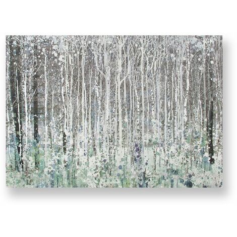 Art for the Home Watercolour Woods Printed Canvas (Was £40)