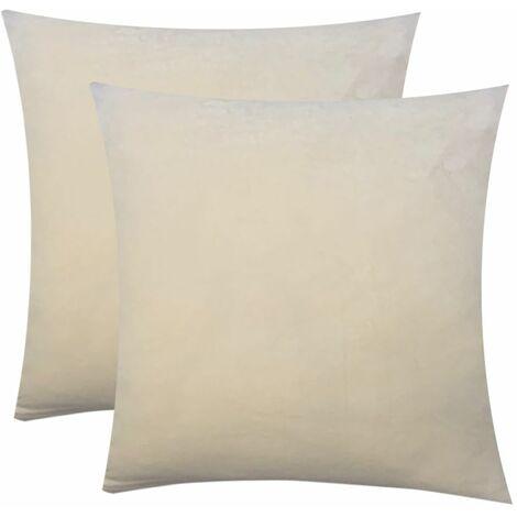 Art Stretch Velvet Fabric Non-slip Stretch Sofa Cover Large Elastic Sofa Furniture Cover (Beige, 2PCS Cushion Cover)