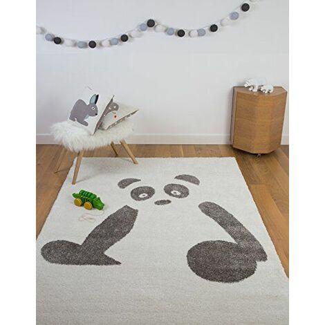 Art Ultra Doux pour chambre d\'enfant Motif animal enfants Panda Tapis, Noir/Blanc, 100x 150cm