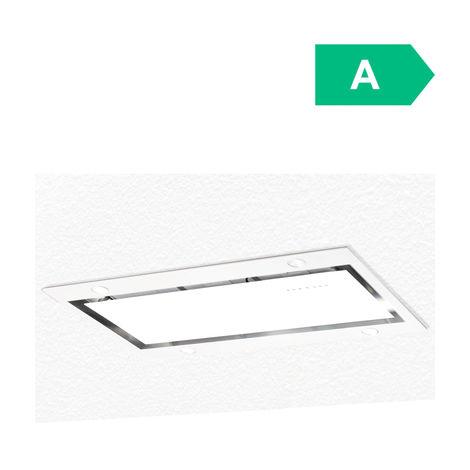 ART10213 100cm White Designer Ceiling Hood Extractor