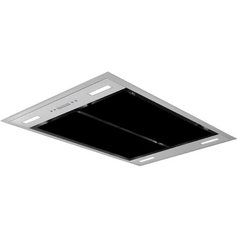 ART10224 110CM BLACK CEILING HOOD