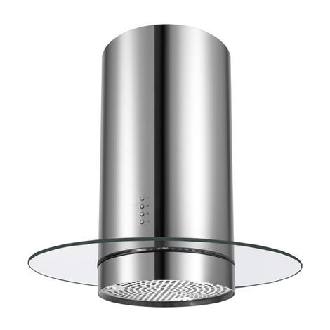ART10228 INOX 60CM ISOLA ICON GLASS COOKER HOOD