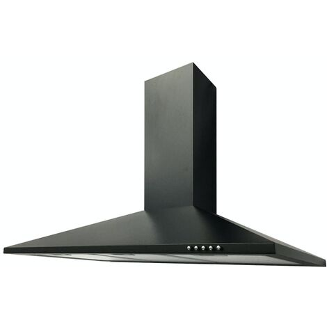 ART10930 90CM BLACK CHIMNEY COOKER HOOD